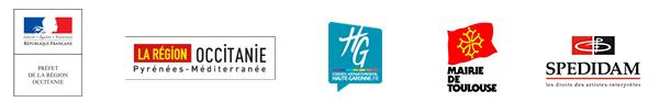 Avec le soutien de la DRAC Occitanie, la région Occitanie, la Haute-Garonne, la mairie de Toulouse et la SPEDIDAM